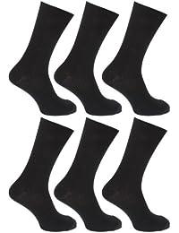 (フロソ) FLOSO メンズ 無地 リブ 綿100% 靴下セット (6足組) ソックス 男性用