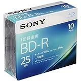 SONY ビデオ用ブルーレイディスク 10BNR1VJPS4(BD-R 1層:4倍速 10枚パック)