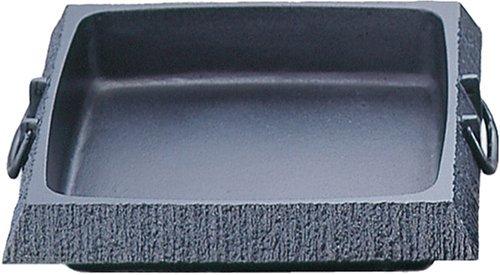 岩鋳 Iwachu すき焼き鍋 石庭角 小 黒焼付 内寸21×22cm IH対応 南部鉄器 20051