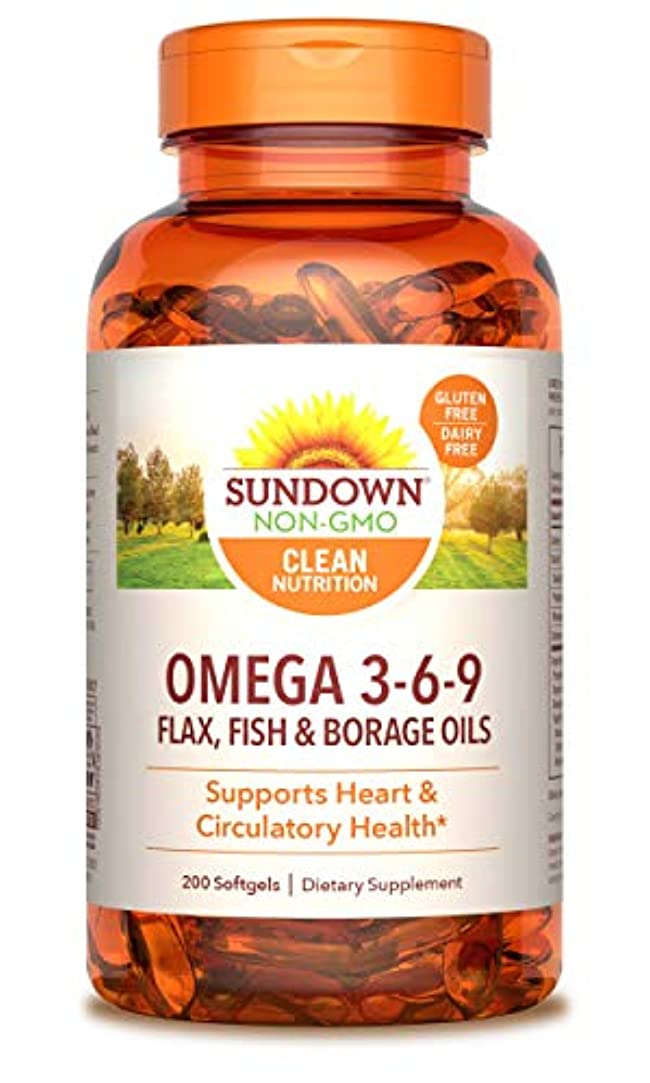 出撃者泥沼郵便屋さんRexall Sundown Naturals, Triple Omega 3-6-9, 200 Softgels