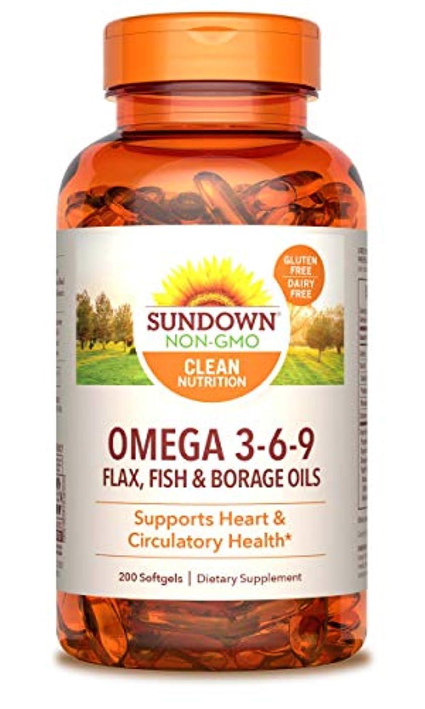 ディスコエクステントなしでRexall Sundown Naturals, Triple Omega 3-6-9, 200 Softgels