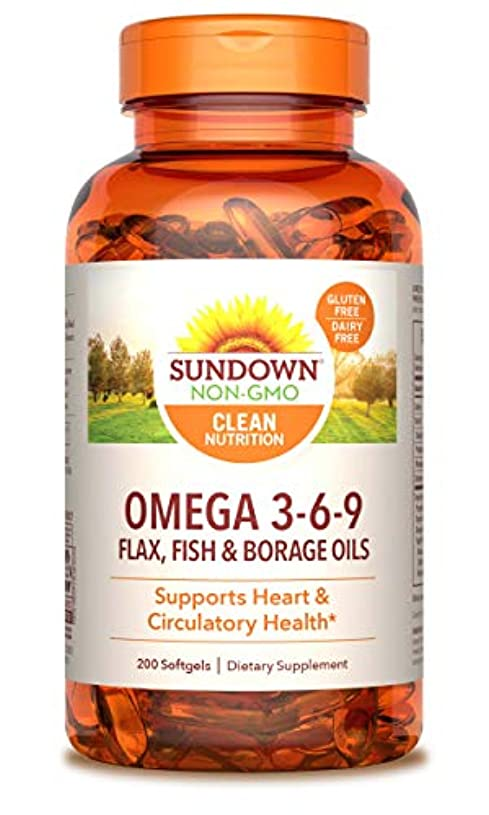 巧みな本物ランデブーRexall Sundown Naturals, Triple Omega 3-6-9, 200 Softgels