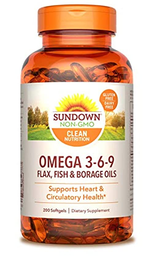 今普及オートRexall Sundown Naturals, Triple Omega 3-6-9, 200 Softgels