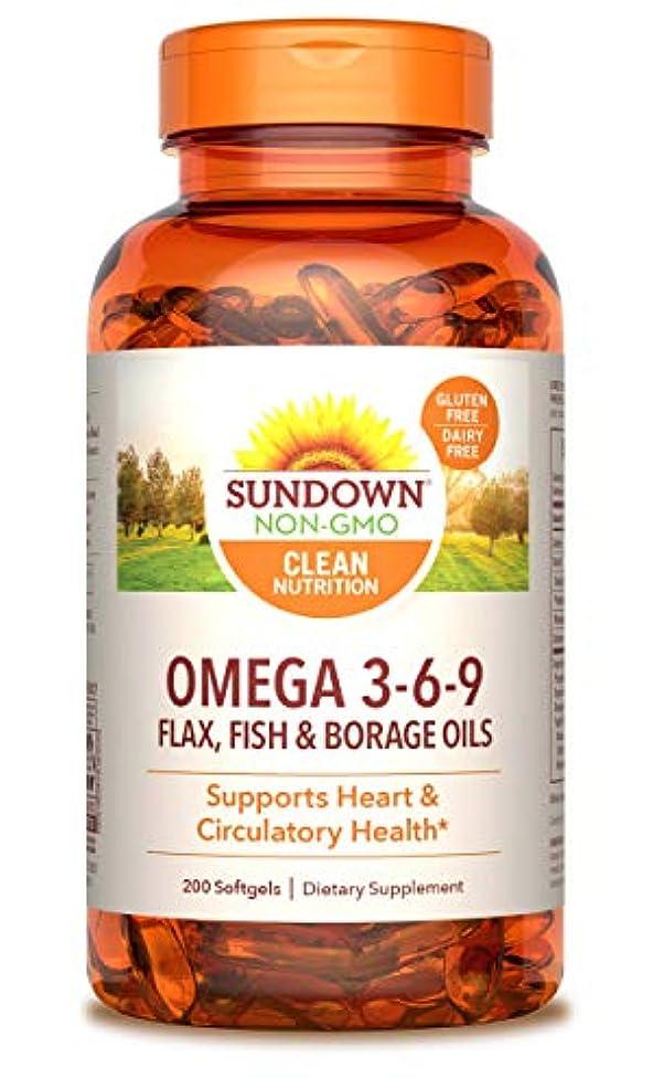 裂け目ギャザー側面Rexall Sundown Naturals, Triple Omega 3-6-9, 200 Softgels