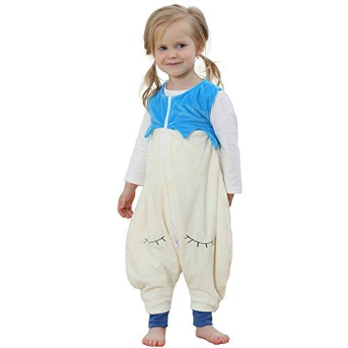 ベビーパジャマ 袖なし ロンパース 子ども 着ぐるみ ジャンプスーツ かわいい動物柄 カバーオール プレゼント 出産祝い (74CM(3-5歳), ホワイト)