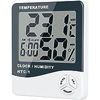 HotTime デジタル温湿度計〔新型〕大画面 温度&湿度表示 温度計/湿度計/目覚まし時計/ アラーム 温度 測定器 置き掛け両方可 熱中症 インフル うるおい