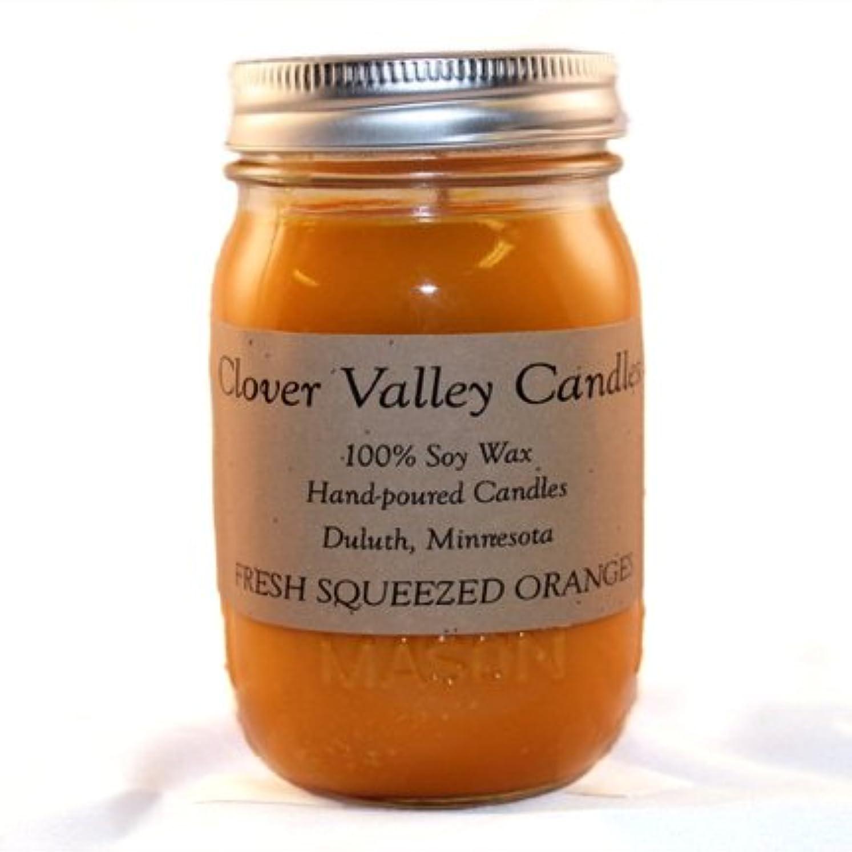 田舎書士インタフェースFresh Squeezed Oranges Pint香りつきSoy Candle byクローバーValleyキャンドル