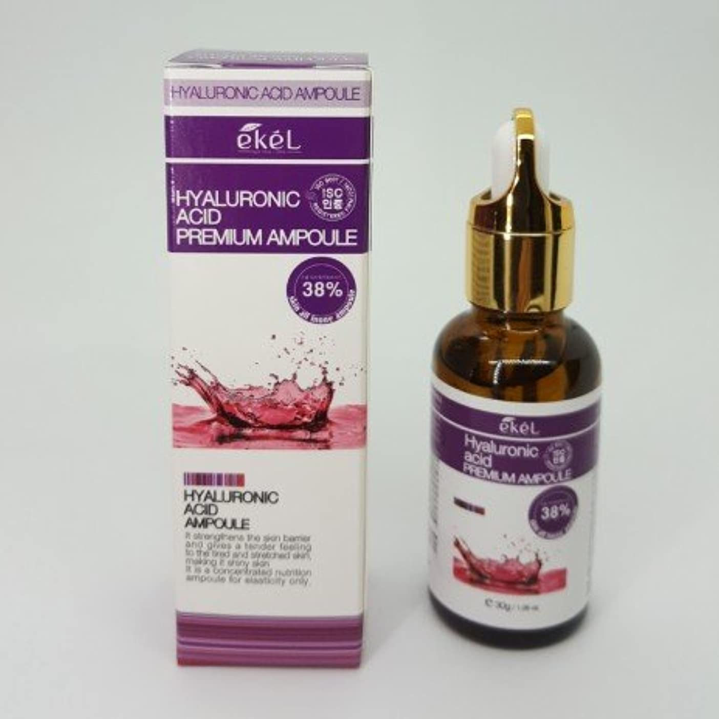 まで墓雑草[EKEL] Hyaluronic Acid Premium Ampoule 38% - 30g