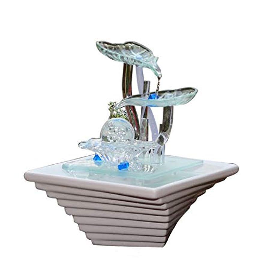 それにもかかわらず大破リング加湿器ホームデスクトップの装飾セラミックガラス工芸品の装飾品噴水装飾品バレンタインデー結婚式の誕生日パーフェクトギフト
