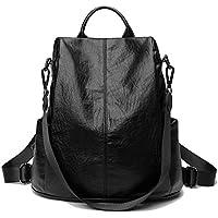 Women Backpack Purse Soft PU Leather Fashion Anti-theft Lightweight School Ladies Travel Shoulder Bag