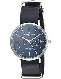 [サルバトーレマーラ]Salvatore Marra メンズ腕時計 マルチカレンダー 薄型 SM15117-SSNVSV メンズ 【正規輸入品】