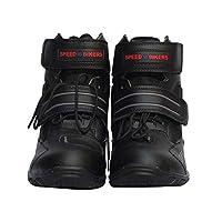 オートバイ靴☆ 防寒 レーシングブーツプロテクショロード ショートブーツ 全3色