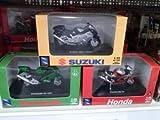NEW RAY 1:32 ダイキャスト Motorcycles Suzuki (スズキ) Gsx1300r Honda Rc51 Kawasaki (カワサキ) Zx12r SET ミニカー ダイキャスト 車 自動車 ミニチュア 模型 (並行輸入)