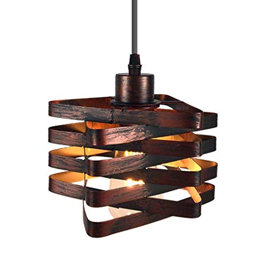 信頼性のある磁石最悪シングルヘッド鍛造鉄ペンダントライト、キッチンアイランドとダイニングルーム、E26 / E27用のヴィンテージ産業クリエイティブメタルケージ天井吊りランプ
