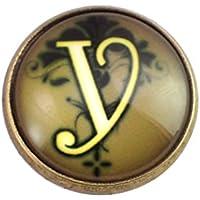 限定 ピンバッジ アルファベット「Y」 ピンズ 筆記体 アンティーク風 ピンバッチ