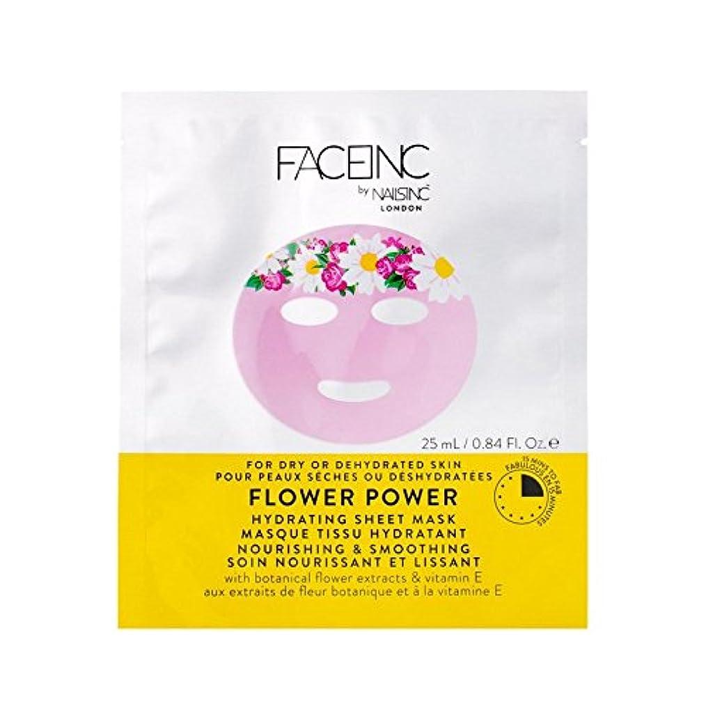 フラッシュのように素早く軍艦へこみ爪が株式会社顔株式会社花のパワーマスク x4 - Nails Inc. Face Inc Flower Power Mask (Pack of 4) [並行輸入品]