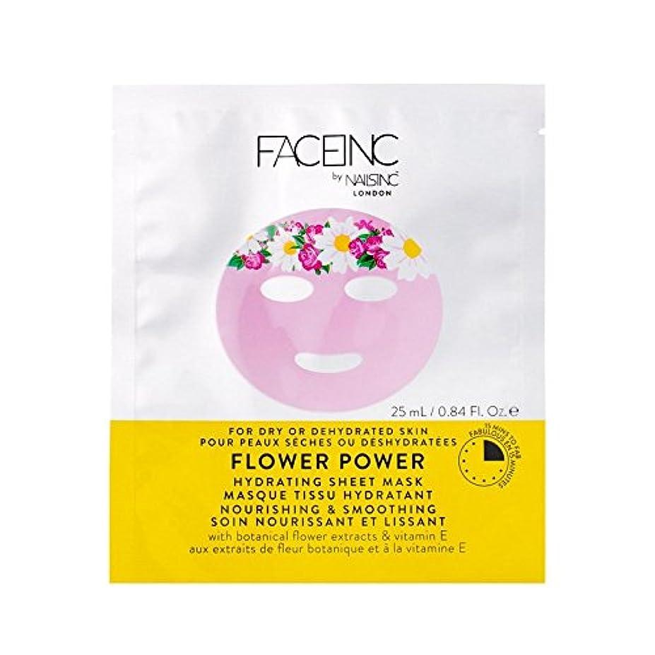 サーバント研磨お風呂爪が株式会社顔株式会社花のパワーマスク x4 - Nails Inc. Face Inc Flower Power Mask (Pack of 4) [並行輸入品]