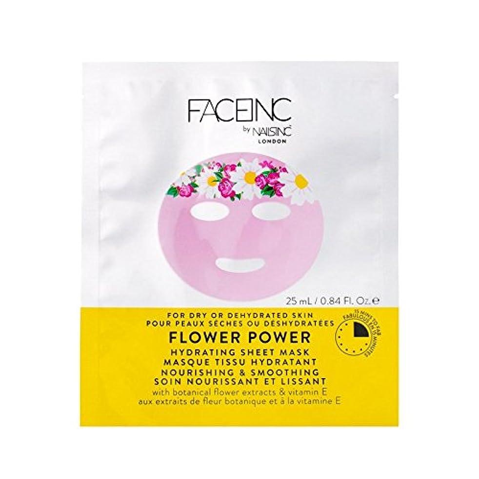 ムスタチオエゴイズム不適爪が株式会社顔株式会社花のパワーマスク x4 - Nails Inc. Face Inc Flower Power Mask (Pack of 4) [並行輸入品]