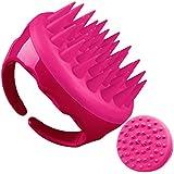 Soaab Shampoo Brush Scalp Massager Exfoliating Brush, Soft Silicone Brush with Body Brush Massage Brush Attachment (Pink)