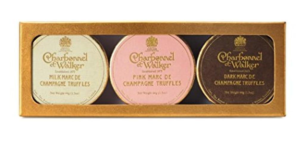 より平らなイースター和解する英国王室御用達 Charbonnel et Walker(シャボネル?エ?ウォーカー)3種のシャンパーニュトリュフチョコレートギフト Marc de Champagne Truffle Trio [並行輸入品]