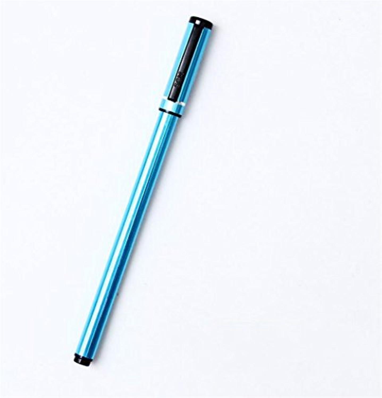 HuaQingPiJu-JP 2本/セットビジネスメタルゲルペンキット実用的な署名ペン学生ステーショナリー用品(ブルー)