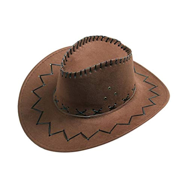 Saikogoods 帽子通気性男性女性カウボーイスタイル帽子夏のアウトドア旅行カウガールカウボーイ西部帽子キャップ