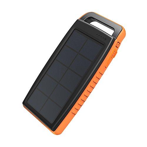 ソーラー充電器RAVPower 15000mAhアウトドア...