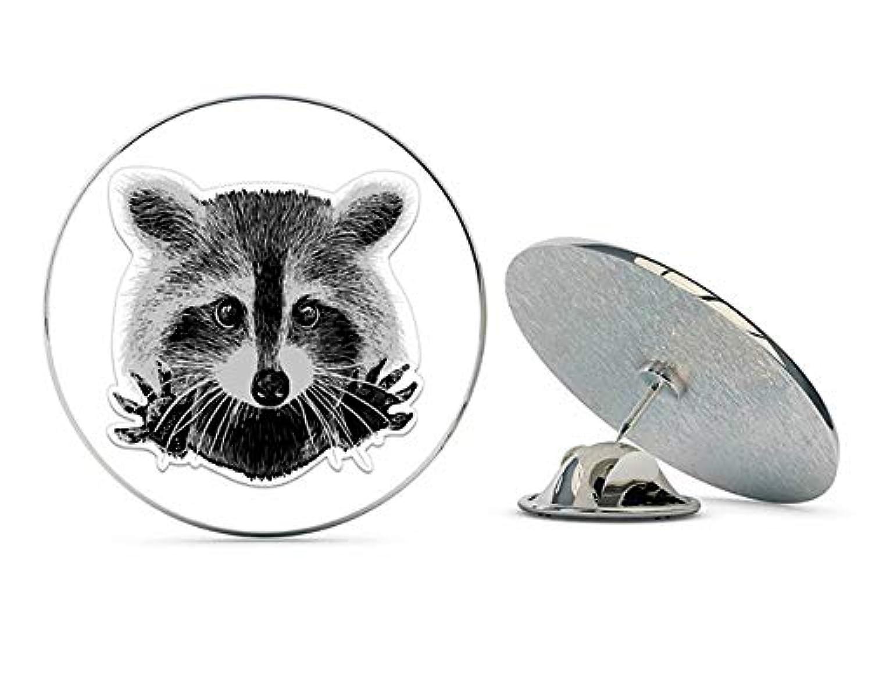 NYC Jewelers ラペルハットピン タイタック ピンバック アライグマ メタル 0.75インチ