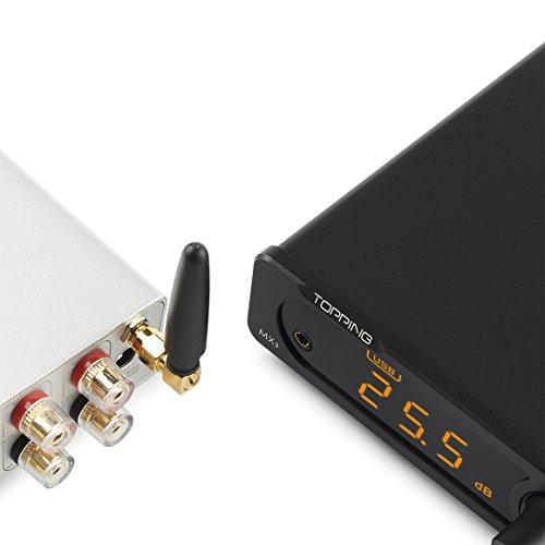 Dilvpoetry TOPPING MX3 デジタルアンプ ヘッドホンアンプ DAC Bluetooth/USB/光/同軸/AUX入力 (シルバー)