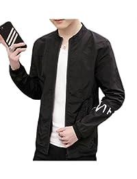 Sodossny-JP 男性の夏の太陽保護スキンロングスリーブジップアップスキン軽量ジャケットコートがよい