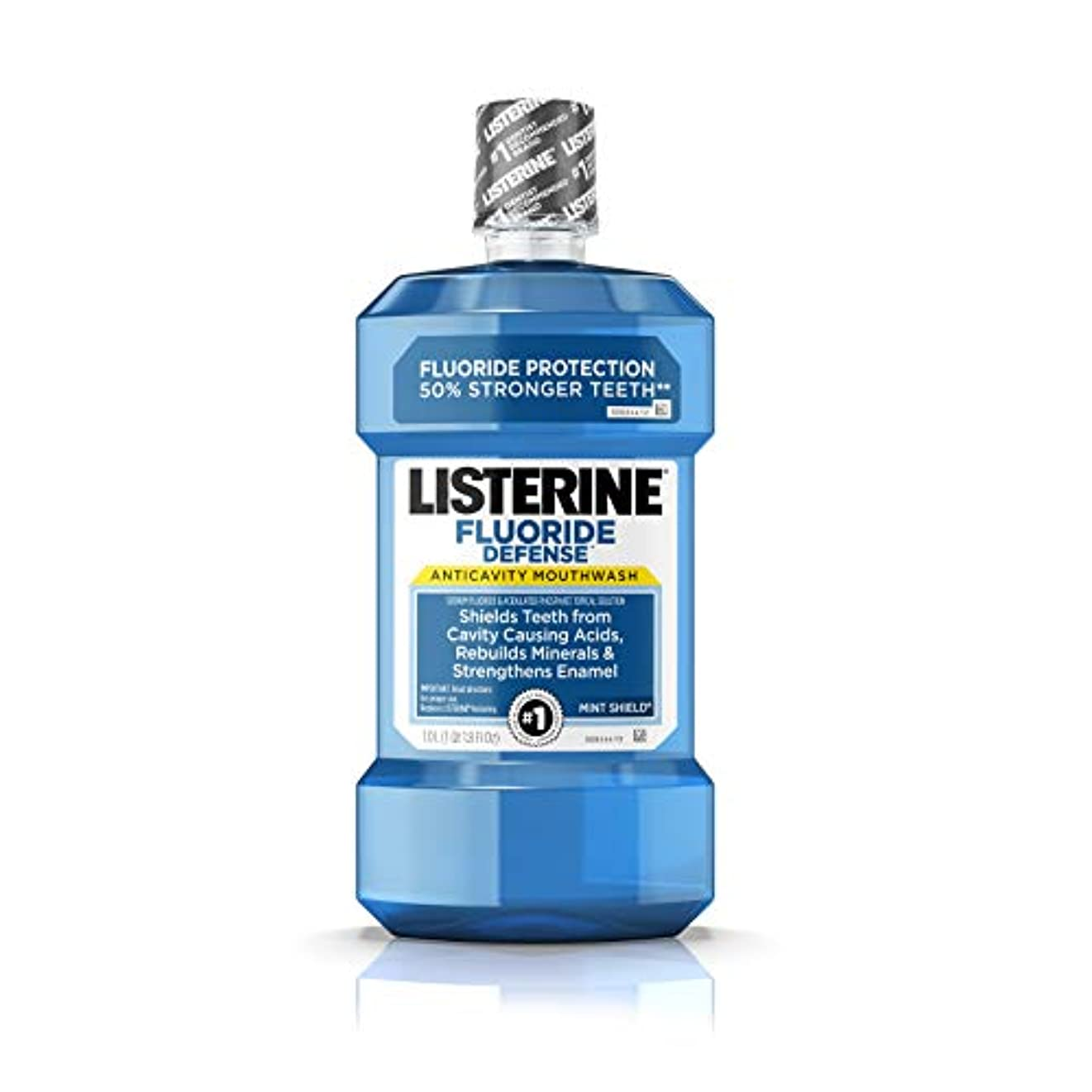 Listerine フッ化物防衛虫歯予防マウスウォッシュ、ミントシールド、1 L
