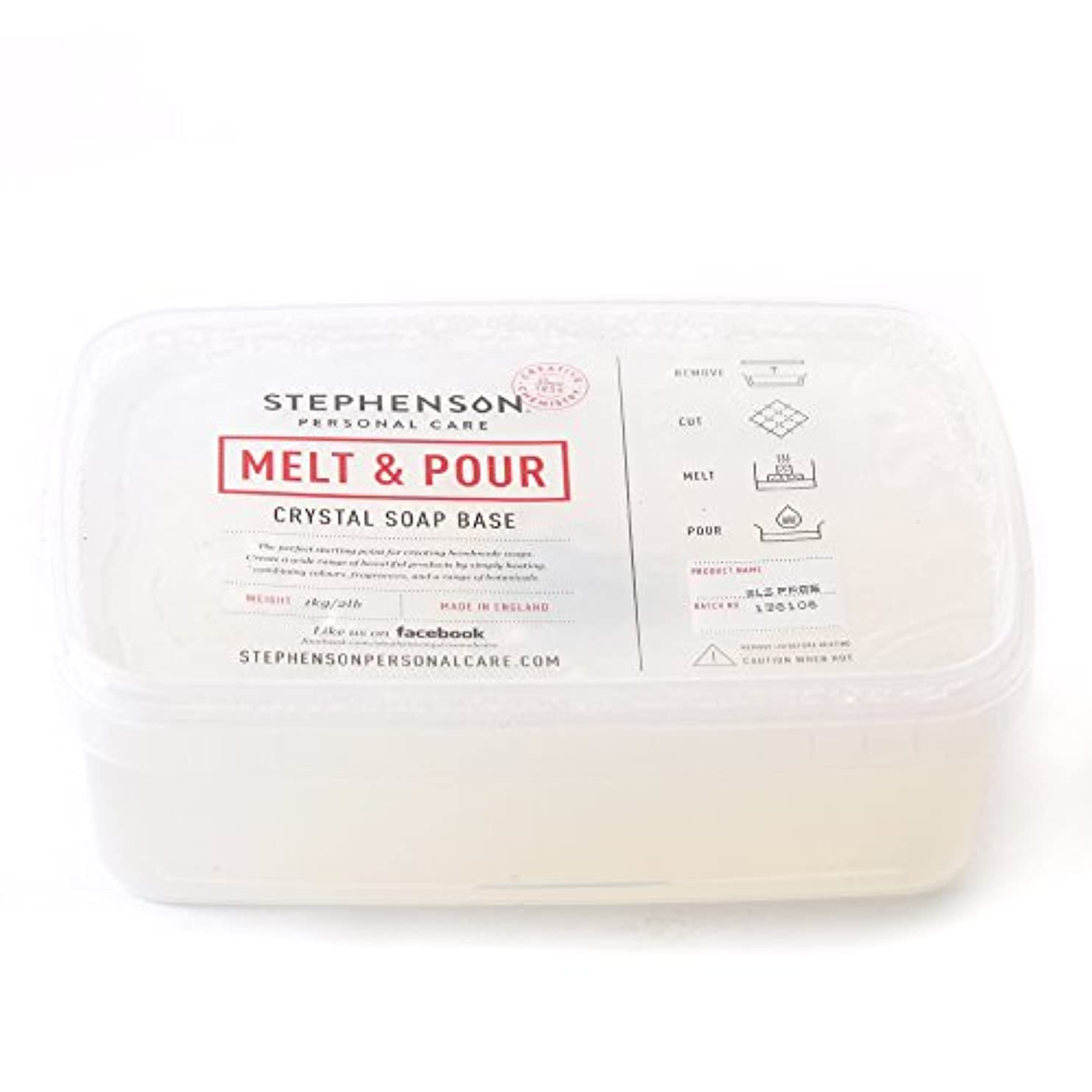 乏しい横容量Melt And Pour Soap Base Clear SLS FREE - 1Kg