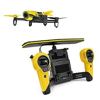 【国内正規品】Parrot Bebop Drone + Skycontroller Set イエロー Full HD 1400万画素 魚眼レンズ カメラ・8GB 内部フラッシュメモリー・最大2kmまで拡張・自動安定ホバーリング・「バッテリー」×2本(合計で22分飛行可能)パリデザイン・GNSS (GPS+GLONASS)付・クワッドコプター  PF725142