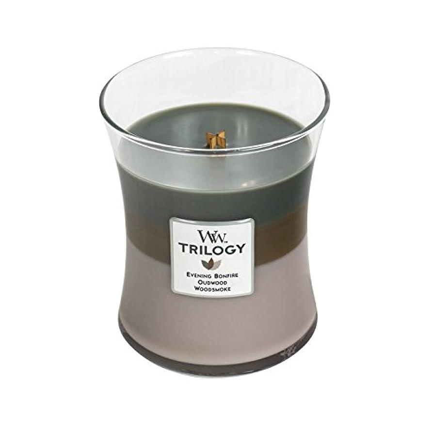 雪だるまを作るアソシエイト何かWoodwick Trilogy Cozy Cabin、3 - in - 1 Highly Scented Candle、クラシック砂時計Jar、Medium 4インチ、9.7 Oz