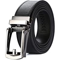 Tonywell Mens Leather Ratchet Belts with New Style Open Buckle Dress Belt 30mm Wide
