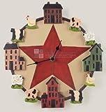 アメリカン カントリー風 大きな 星 デザイン おしゃれな 掛け時計
