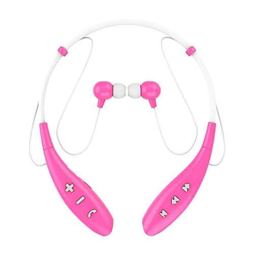 SoundPEATS(サウンドピーツ) bluetooth イヤホン 高音質 ハンズフリー スポーツ仕様 生活防水 イヤホン bluetooth ワイヤレス イヤホン ワイヤレスヘッドホン bluetooth ヘッドホン ヘッドセット イヤフォン ヘッドフォン Q800 (ピンク)