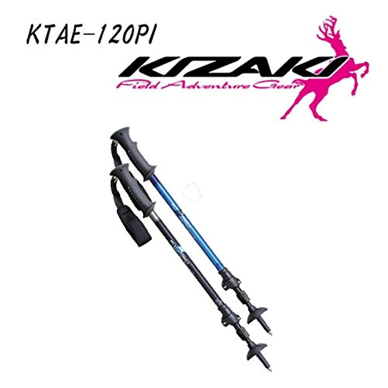 タンパク質まばたきアスペクト[キザキ] トレッキングポール ペチカ メンズ I型 ブラック 120cm KTAE-120PI