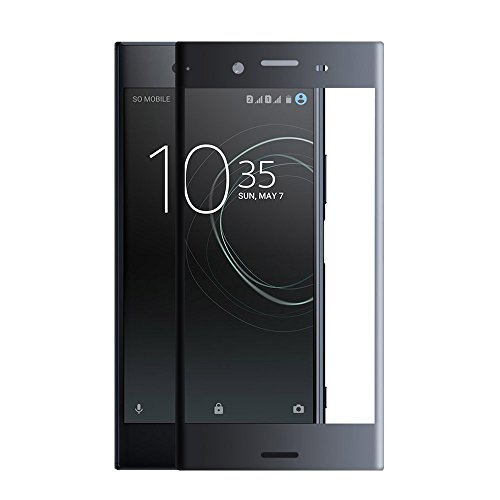 Gosento【 4D 全面保護 】Xperia XZ1 フィルム ガラスフィルム 液晶保護フィルム 飛散防止 硬度9H 気泡防止 Sony Xperia XZ1 対応 (ブラック)