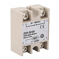 Keenso ソリッドステートリレー産業オートメーションプロセス SSR-20DA入力3-32VDC出力24-380VAC 定格電流20A