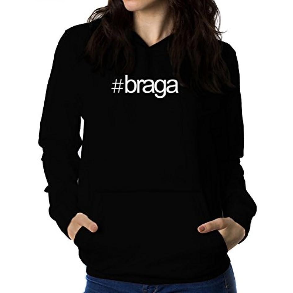 浸したスリップ利益Hashtag Braga 女性 フーディー