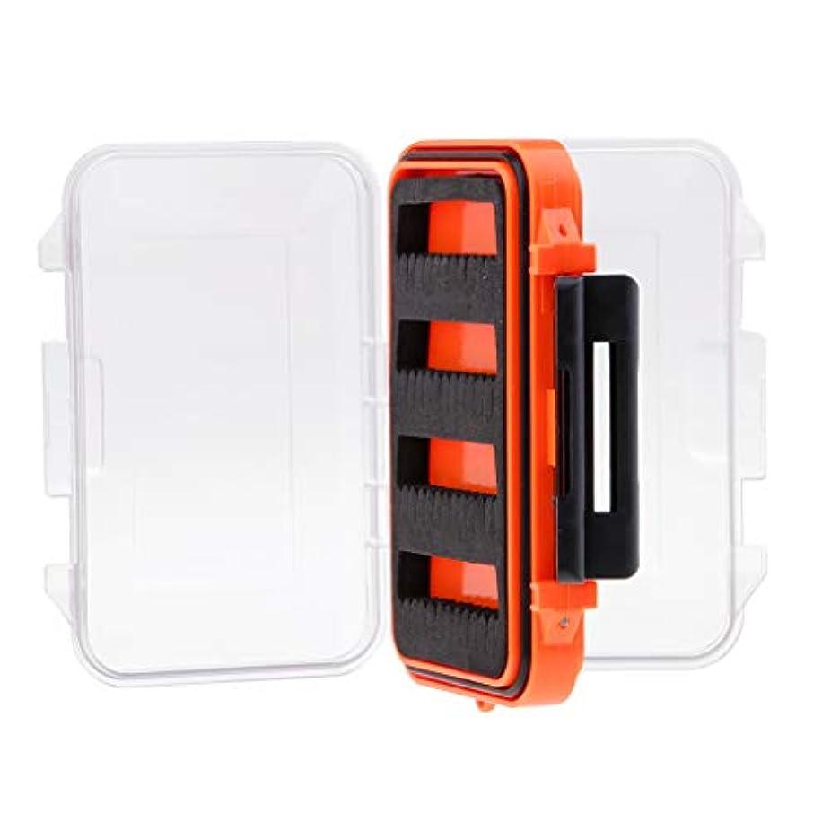 または許容できるアカウントFenteer 釣り用ケース フライボックス ルアー フック ジグ フォーム スロット付き 両面防水