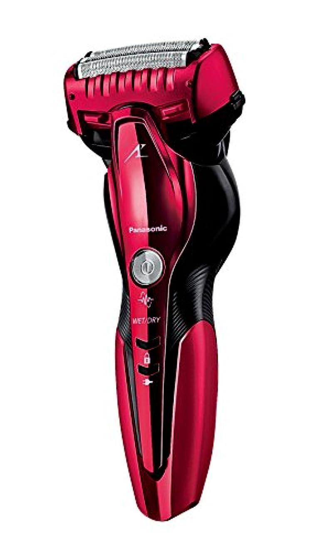ネット自動化一時停止パナソニック ラムダッシュ メンズシェーバー 3枚刃 お風呂剃り可 赤 ES-CST6Q-R