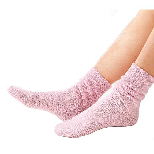 冷えとり靴下 シルク 防寒 シルク混おやすみソックス ピンク