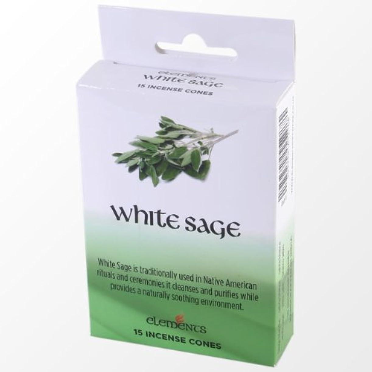 胸訴える製油所12 Packs Of Elements White Sage Incense Cones
