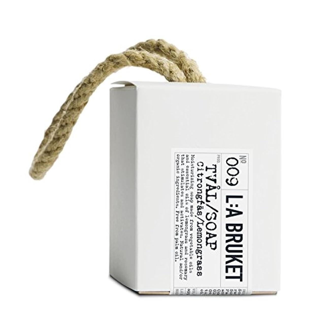 洗剤保有者放射能L:A Bruket Lemongrass Soap on a Roap 240g - :の240グラムののレモングラス石けん [並行輸入品]