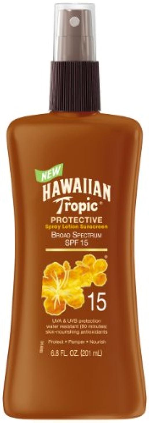 資産イブ中庭Hawaiian Tropic サンスクリーン 保護日焼け 広域スペクトル サンケア スプレーローション SPF 15 201.1ml (6.8オンス) 236.6ml (8オンス)