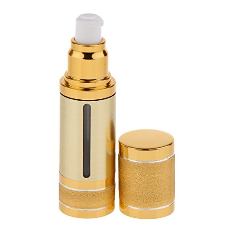 把握彼女自身文字プラスチック 化粧品ボトル エアレスボトル 空ボトル コスメボトル ポンプボトル 携帯便利 2色選べる - ゴールド