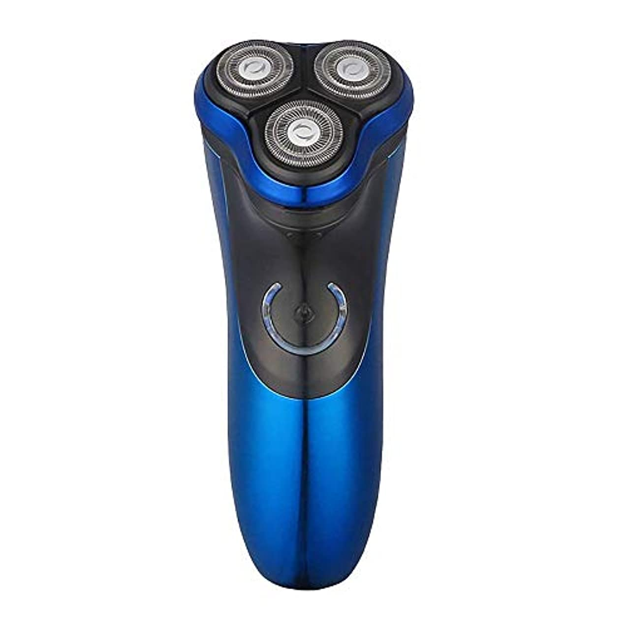 咲くリーズ裁判所メンズロータリーシェーバーポップアップトリマー付き電気シェービングカミソリ3Dフローティングヘッドワイヤレス使用男性用シェービングマシン防水コードレス充電式