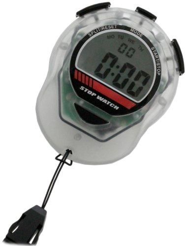 [クレファー]CREPHA デジタルストップウォッチ 日常生活防水仕様 バックライト付き クリア TEV-4012-CL